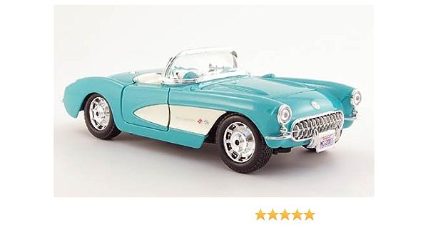 Chevrolet Corvette Mint 1957 Modellauto Fertigmodell Maisto 1 24 Spielzeug
