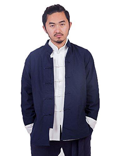 Zooboo Herren Martial Arts Kung Fu Jacke Tang Anzug Tops Blau - blau