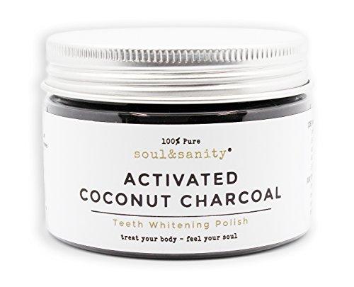 Bleaching für Zähne Premium | Natürliche Aktivkohle aus Kokosnuss für weiße Zähne von soul&sanity | Zahnaufhellung | teeth whitening