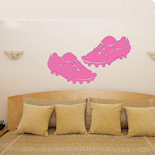 guijiumai Adesivo Murale Vinile Decorazioni per la casa Stivali da Calcio Appassionati di Calcio Cameretta per Bambini Adesivo murale Rimovibile 5 57X98CM