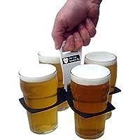 We Can Source It Ltd wegfalten tasse träger halblitergläser/Kaffeetassen/weiche Getränke/smoothie und Saft schalen/Einweg Bier schalen Ideal für Festivals/Außen Events/sport Streichhölzer passt in