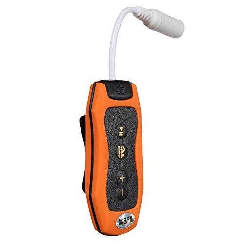MP3-Player - SODIAL(R)8GB MP3-Player Schwimmen Tauchen Spa + FM Radio Wasserdichte Kopfhoerer-orange