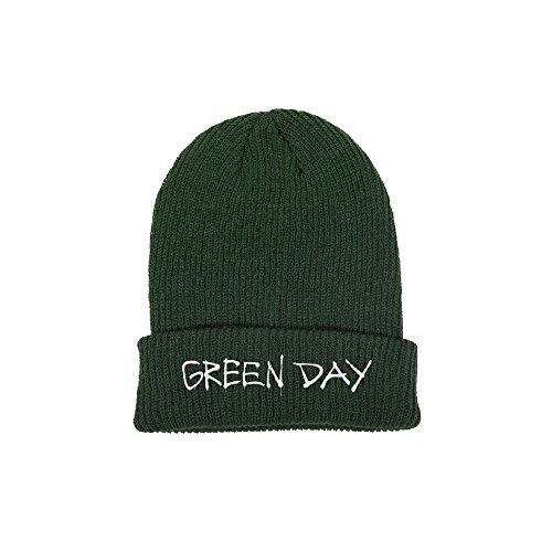 GREEN DAY LABEL FLIP BEANIE HATS - Hat Green Day