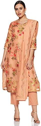 BIBA Women's Synthetic Straight Salwar Suit