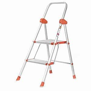 Bathla Surge 2-Step Foldable Aluminium Ladder with Oval-Tube Technology