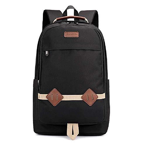 YJZZ Canvas-Computer-Tasche Outdoor Bergsteigen Reisetasche Canvas Umhängetasche Mode Student Tasche 20L oder weniger/schwarz