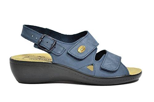 Fly Flot Sandali scarpe donna blu anatomiche anti-shock 90F2237PNE 36