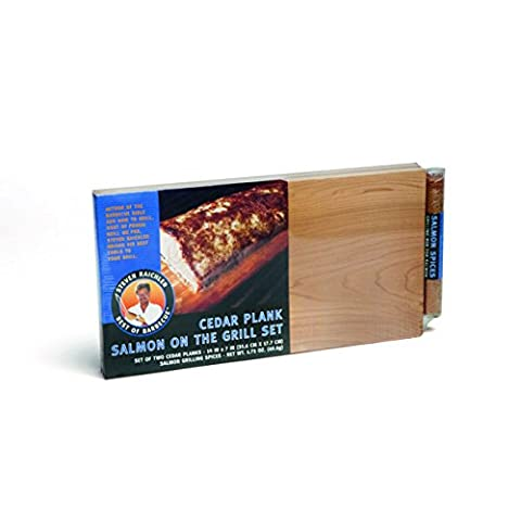 Steven Raichlen Best of Barbecue Cedar Grilling Planks with Spices, Set of 2