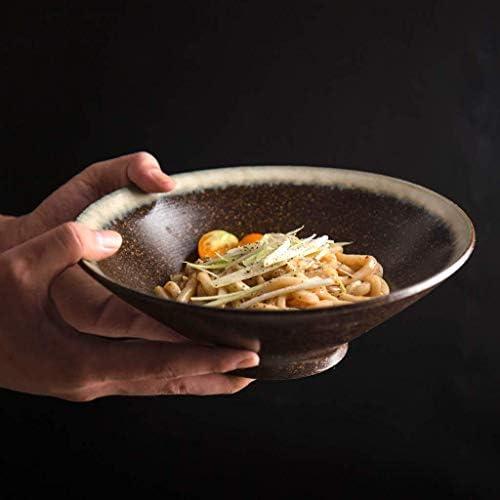 Tempo da tavola di ChenDz Ciotola di tavola zuppa di Spaghetti in Ceramica in Stile Occidentale Ciotola di Insalata di Riso Creativa Irregolare Ciotola di Insalata Personalizzata 9 Pollici da643c