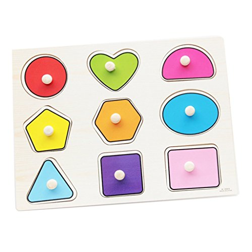Nicedeal Wood Geometric Figure Puzzle Shape Parity of Child Toy For Preschool Children Toys for GIRLS