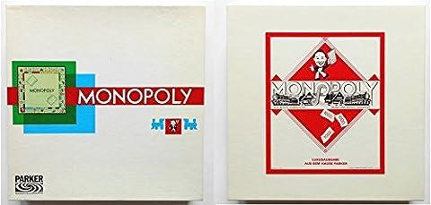 Monopoly - quadratischer weißer Karton von 1961.