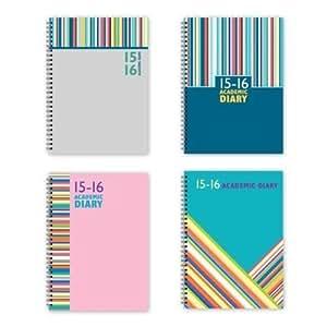 Agenda scolaire 2013-2014 semainier A5 à spirale Design rayures colorées