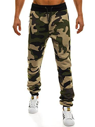 OZONEE Mix Herren Hose Sporthose Jogginghose Fitness Trainingshose Freizeithose Jogger Athletic 0801A CAMO/01 S Und 1 Athletic Hosen