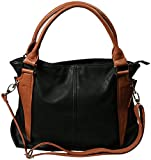 Damen Handtasche mit 3 Innenfächern, 1 Handyfach, Reißverschluss