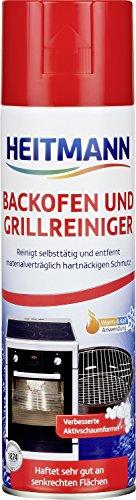 HEITMANN Backofen- und Grillreiniger: löst hartnäckigen Schmutz, ideal für Backöfen, Back- und Auffangbleche, Grills, Roste, Herdplatten, Töpfe, Pfannen - Aktivschaum für die Warm- und Kaltreinigung