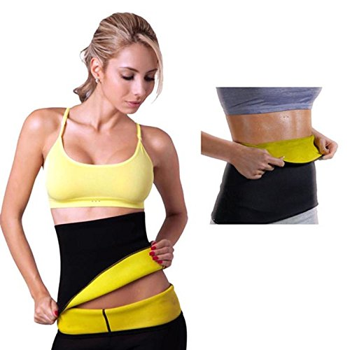 MSE (Limited Period Offer BUY 1 AND GET 1 Cordless Mini Massagers Worth Rs 299 Absolutely FREE) Hot Neoprene Waist shapers super stretch waist belt slims corset waist straps for Men & Women (Size 4XL) For more clarity in Size See the Size Chart.