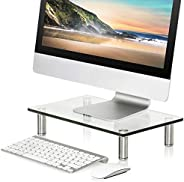 FITUEYES Clear Computer Monitor Riser Save Space Desktop Stand for Xbox One/component/flat Screen TV DT103801G