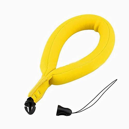 Xiton schwimmender Handgelenk Gurt Universal Floating Armband Auftriebs Gurt Schwimmer Schaum Handgurt für Unterwasserkameras/GoPro/Nikon/Olympus/Canon/Camcorder/Smartphone (gelb) 1 PC