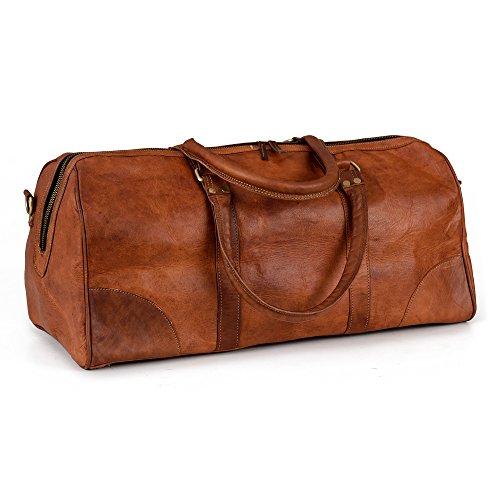Berliner Bags Weekender Berliner Bags Meran L Reisetasche aus Leder Qualität Vintage Design Damen Herren Braun Groß 55 cm 30 Liter