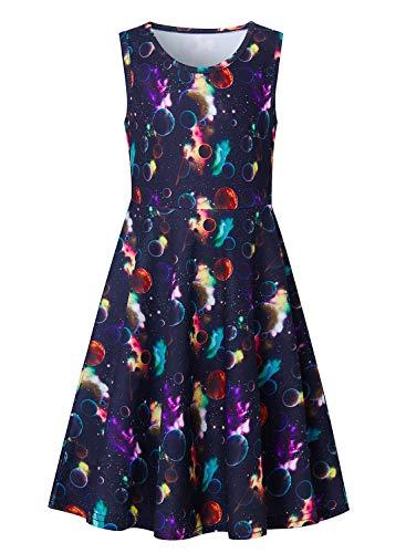 Fanient Kleinkind Mädchen Sleeveless Freizeit Dress Dolphin Gedruckt Kinder Holiday Party Sommerkleider Prom Kleider für Mädchen 4-5 Jahre Prom Party Kleid