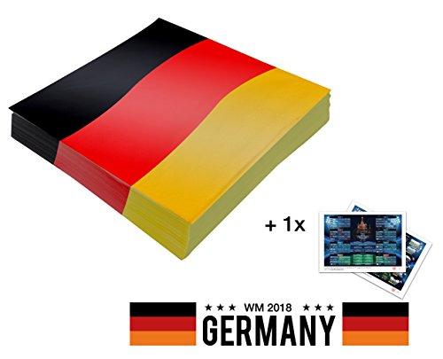 TK Gruppe Timo Klingler 20x Servietten wm Deko Tischdeko Tischdekoration Serviette Deutschland Flagge 33x 33 cm Fanartikel zur Dekoration Deko Party