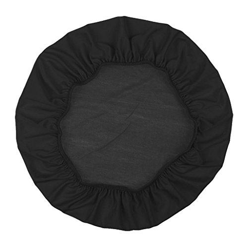 Baoblaze Housse de Tabouret Chaise Remplacement Couvertur Extensible Polyester Spandex - Noir