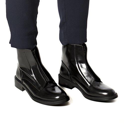 NAE Zipme Schwarz - Damen Vegan Stiefel - 5