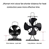 JKsmart Mini Stove Fan for Small Space on Log/Wood Burner/Stove/Fireplace,Eco Friendly Silent Small Fan(Black)
