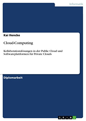 Cloud-Computing: Kollaborationslösungen in der Public Cloud und Softwareplattformen für Private Clouds