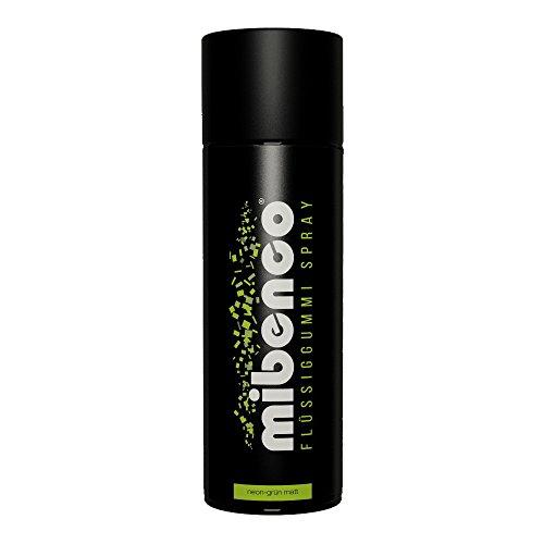 Preisvergleich Produktbild mibenco 71426038 Flüssiggummi Spray / Sprühfolie,  Neon-Grün Matt,  400 ml - Neue Farbe und Schutz für Oberflächen und Zum Felgen lackieren