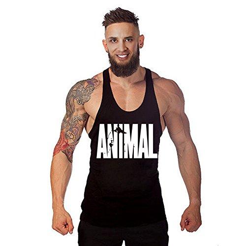 678cbd09763dd waylongplus Hombre Animal Carta Impresión Fitness Stringer Tank Tops para  culturismo Entrenamiento Muscular