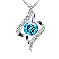 Swarovski Elements Crystal 18K Gold Plated 925 Sterling Silver Heart Pendant Necklace for Women Ladies Girls Gift Package J.Rosée Fashion Jewelry JR681