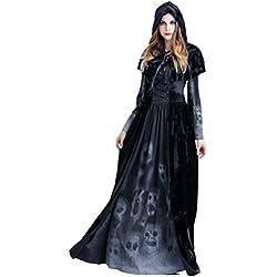 Anguang Disfraz de Bruja Mujer Cosplay Vampiresa Novia Cadaver Halloween Estilo 1 S