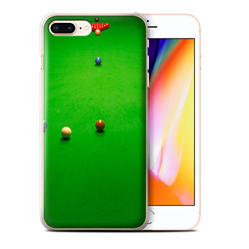 Stuff4 Hülle / Case für Apple iPhone 8 Plus / Queue Kugel Muster / Snooker Kollektion Baulk
