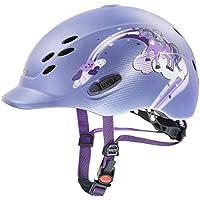 Uvex Onyxx - Casco de equitación para niños, Todo el año, Infantil, Color Princess Violet Mat, tamaño 49-54 cm