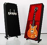 Miniatur Gitarre Replica: Carlos Santana PRS SE Santana orange-Modell Mini Rock Kuriositäten Nachbildung Holz Miniatur-Gitarre & Display Gratis Ständer (UK Verkäufer)