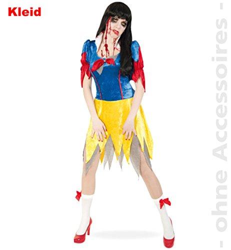 Schneewittchen Kostüme Aus Hexe (Horror Schneewitchen Kleid Zombie Teenie Damen Kostüm Halloween Schneewittchen Gr.)