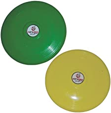 KITSAWS SPORTS Flying Disc (Multicolour, 10-inch) - Pack of 2