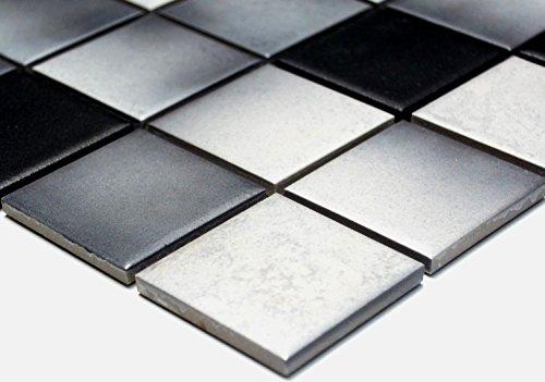 Mosaïque de réseau pour carrelage mosaïque carré Mix Gris antidérapant r10C Céramique...