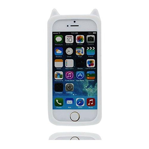 iPhone 5 5S Hülle, Handyhülle iPhone 5C 5G SE, TPU dauerhaft Case Staub Rutsch kratzfest (3D Cartoon rosa Schwein) Weiß 2
