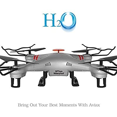 GPTOYS Waterproof H2O Aviax 2.4G 4CH 6 Axis gyro Headless Mode 3D Rolling RC Quadcopter RTF