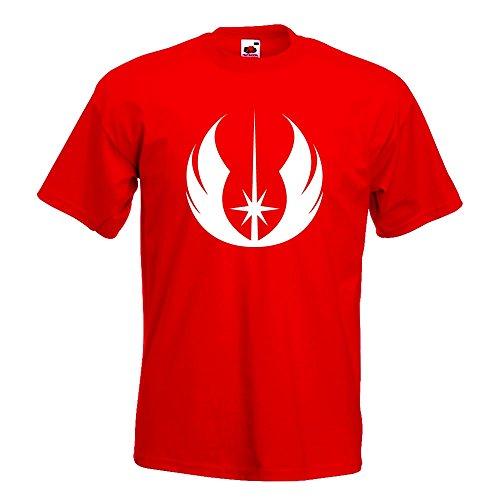 KIWISTAR - Jedi Orden T-Shirt in 15 verschiedenen Farben - Herren Funshirt bedruckt Design Sprüche Spruch Motive Oberteil Baumwolle Print Größe S M L XL XXL Rot