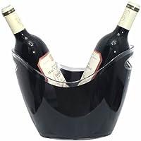 Vin Bouquet FIE 006 - Cubitera para 2 Botellas, Color Negro