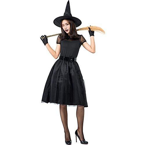 Fashion-Cos1 Halloween Temperament Hexe Kostüm Für Frauen Sexy Fashion Deluxe Kostüm Böse Hexe Kleid Hexe Karneval Party Kostüm (Size : - Deluxe Böse Hexe Kostüm