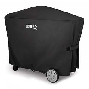 weber abdeckhaube q 300 3000 er serie schwarz 19 x 7 x 27 cm 7119 garten. Black Bedroom Furniture Sets. Home Design Ideas