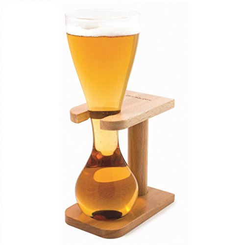 ckb-ltd-quarter-yard-tall-ale-glass-with-smart-birch-wood-stand-holder-kwak-bierglser-bierglas-mit-h