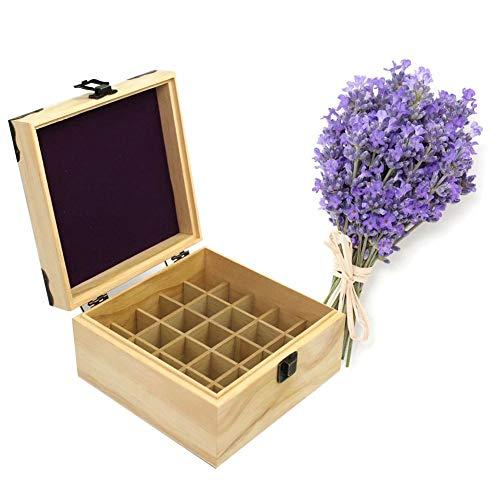SNIIA Box mit ätherischen Ölen, Aufbewahrungskoffer aus Holz für 25 Fächer, ideal für die Aufbewahrung Ihrer Öle (Young Living Harmonie)