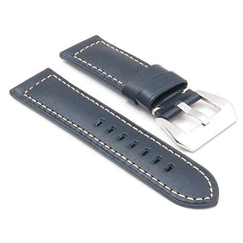 dassari-monaco-bande-pour-montre-en-cuir-lisse-bleu-pour-panerai-taille-26-24-26mm