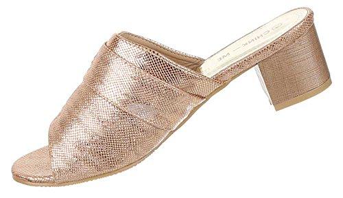 Damen Schuhe Sandalen Mit Strass Besetzte Modell Nr.1Gold