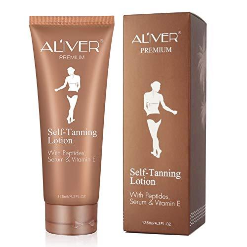 Body Self-tanning Lotion (Allouli 125ml Self Tanning Lotion Body Fake Tan Moisturizing Sunless Self Tanners Bronzers Cream)